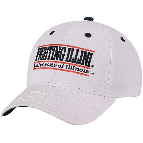 Men's The Game White Illinois Fighting Illini Classic Bar Adjustable Snapback Hat