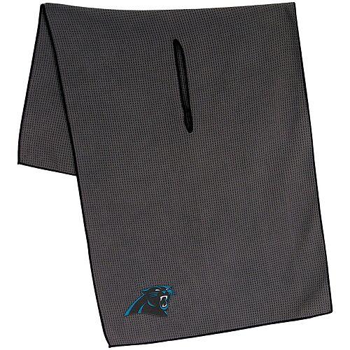"""Carolina Panthers 19"""" x 41"""" Gray Microfiber Towel"""