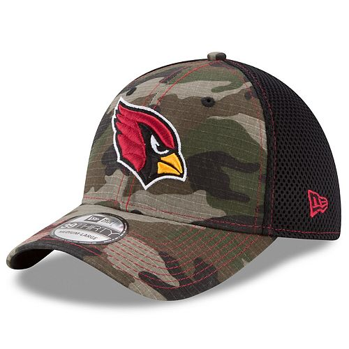 Men's New Era Camo Arizona Cardinals Woodland Shock Stitch Neo 39THIRTY Flex Hat