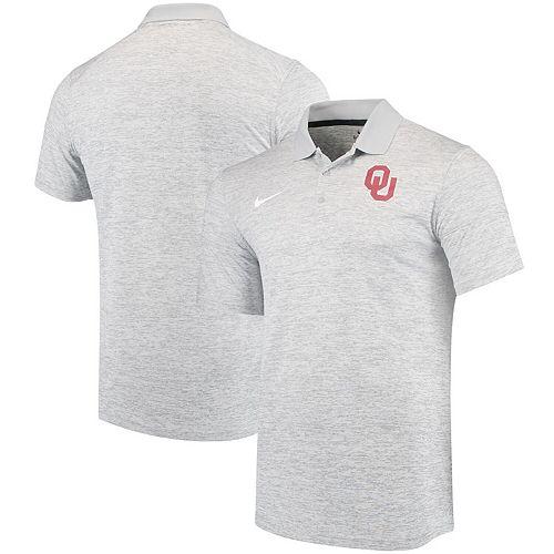Men's Nike Heathered Gray Oklahoma Sooners Collegiate Dry Polo