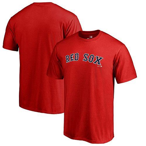 Men's Fanatics Branded Red Boston Red Sox Big & Tall Team Wordmark T-Shirt