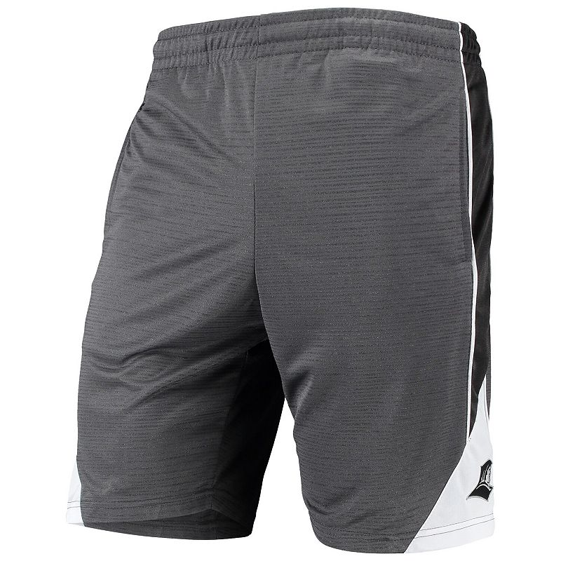 Men's Colosseum Charcoal Providence Friars Turnover Team Shorts. Size: 2XL. Grey