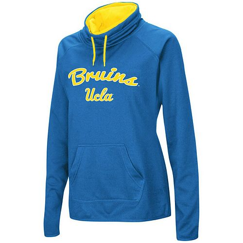 Women's Blue UCLA Bruins Funnel Neck Pullover Sweatshirt