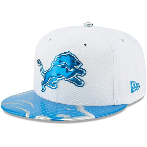 Youth New Era White Detroit Lions 2017 NFL Draft Official On Stage 59FIFTY Fitted Hat