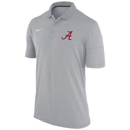 Men's Nike Heathered Gray Alabama Crimson Tide Collegiate Dry Polo