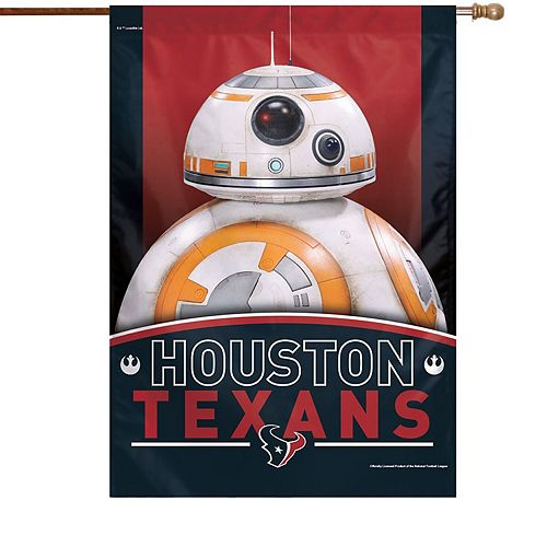 """WinCraft Houston Texans 28"""" x 40"""" Star Wars Single-Sided House Banner"""