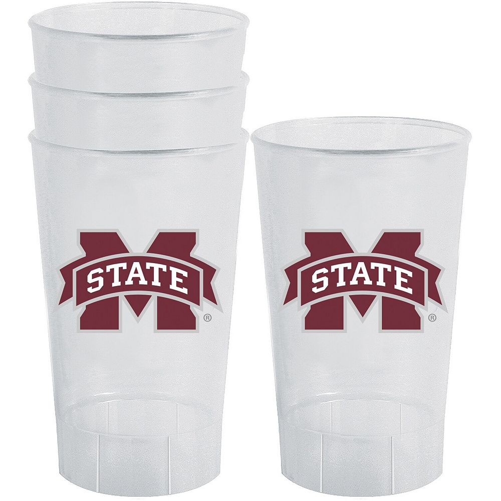 Mississippi State Bulldogs 16oz. Acrylic Tumblers 4-Pack Set