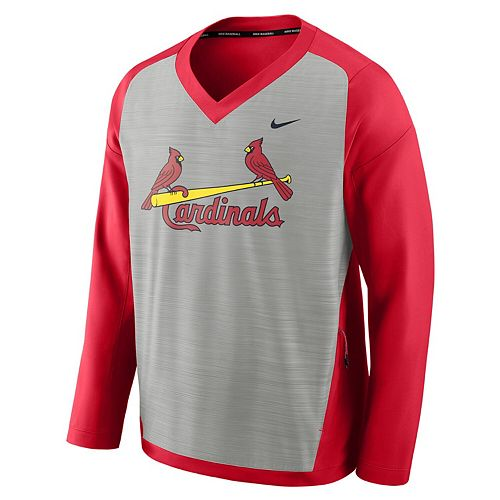 Men's Nike Gray St. Louis Cardinals Performance Pullover Windshirt