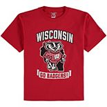 Youth Champion Red Wisconsin Badgers Strong Mascot T-Shirt