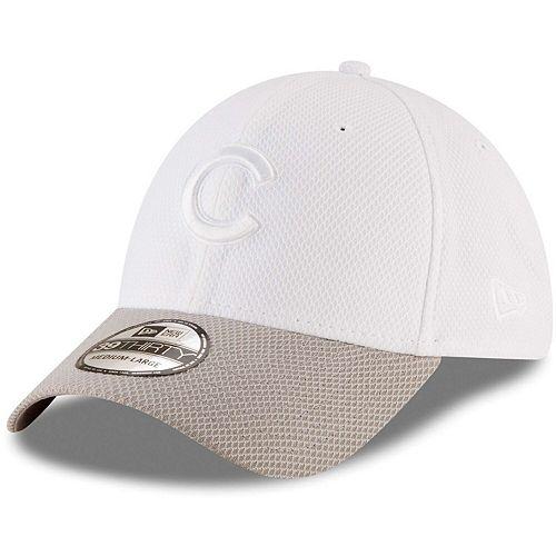 Men's New Era White Chicago Cubs Tone Tech Redux 2 39THIRTY Flex Hat