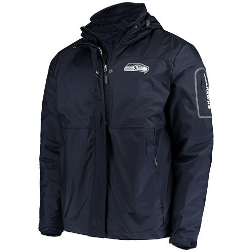 Men's G-III Sports by Carl Banks College Navy Seattle Seahawks Acclimation 3 In 1 Systems Jacket