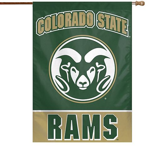 """WinCraft Colorado State Rams 28"""" x 40"""" Full Name Single-Sided Vertical Banner"""