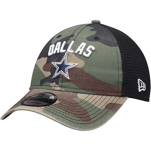 Men's New Era Camo Dallas Cowboys Rugged Stack Trucker 9TWENTY Adjustable Snapback Hat