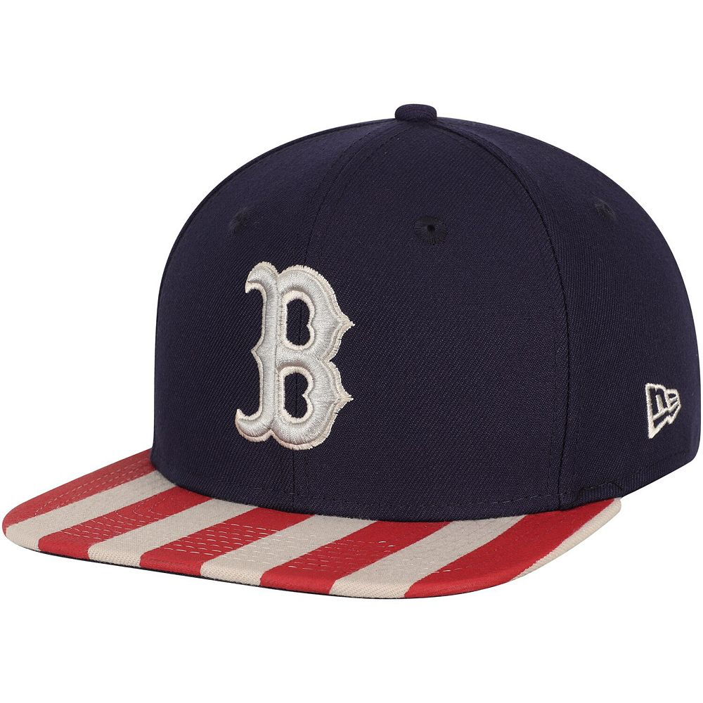 Men's New Era Navy/Red Boston Red Sox Fully Flagged 9FIFTY Adjustable Hat
