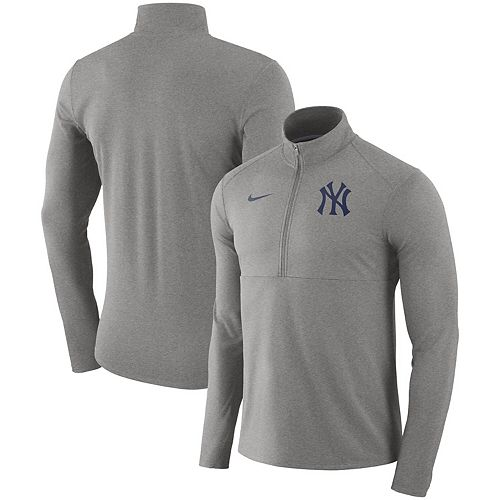 Men's Nike Gray New York Yankees Dry Element Half-Zip Performance Pullover