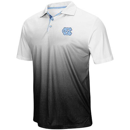 Men's Colosseum Heathered Gray North Carolina Tar Heels Magic Team Logo Polo