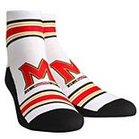 Youth White Maryland Terrapins Classic Stripes Quarter-Length Socks