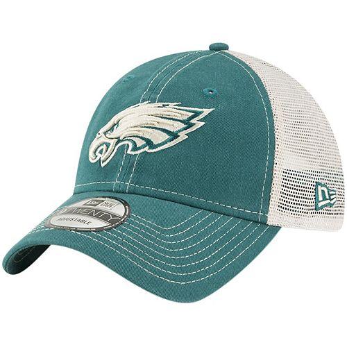 Men's New Era Midnight Green Philadelphia Eagles Rustic Mark Trucker 9TWENTY Adjustable Hat