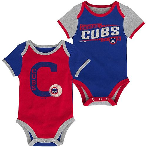 Newborn Royal/Red Chicago Cubs Baseball Star Two-Pack Bodysuit Set