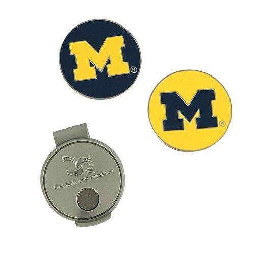 Michigan Wolverines Hat Clip & Ball Markers Set