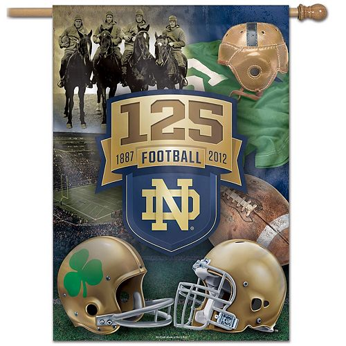 """WinCraft Notre Dame Fighting Irish 28"""" x 40"""" 125 Years of Football Single-Sided Vertical Banner"""