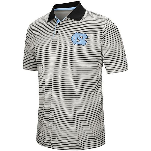 Men's Colosseum Gray North Carolina Tar Heels Lesson Number One Polo