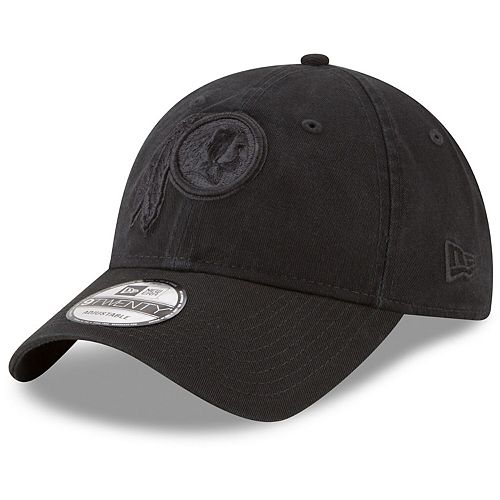 Men's New Era Washington Redskins Black on Black Core Classic 9TWENTY Adjustable Hat