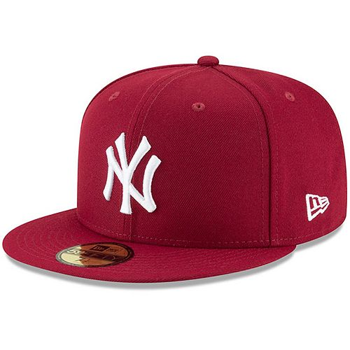 Men's New Era Crimson New York Yankees Fashion Color Basic 59FIFTY Fitted Hat