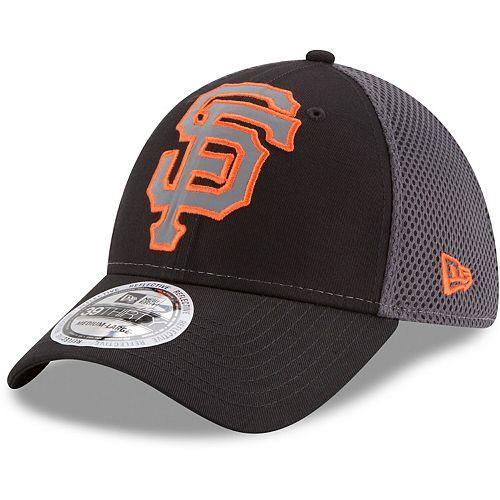 Men's New Era Black San Francisco Giants Megaflect 39THIRTY Flex Hat