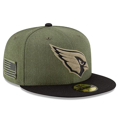 Men's New Era Olive/Black Arizona Cardinals 2018 Salute to Service Sideline 59FIFTY Fitted Hat