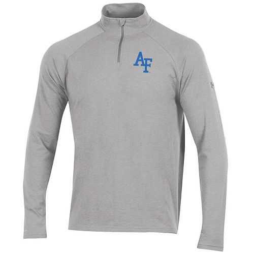 Men's Under Armour Heathered Gray Air Force Falcons Charged Cotton Quarter-Zip Jacket