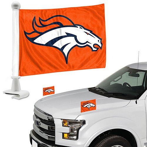 Denver Broncos Auto Ambassador Flag Set