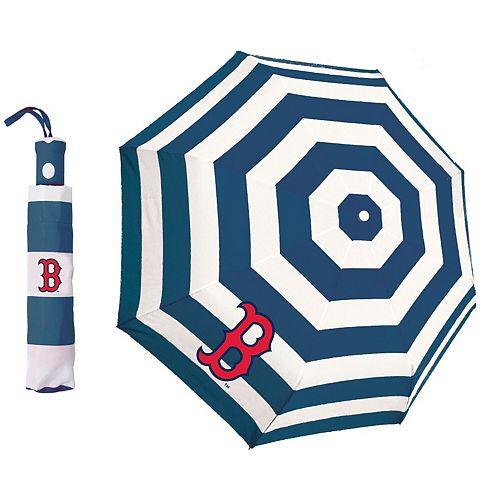 Boston Red Sox Cabana Stripe Folding Umbrella