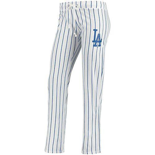 Women's Concepts Sport White Los Angeles Dodgers Vigor Pinstripe Sleep Pant
