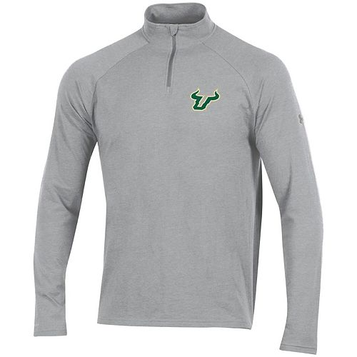 Men's Under Armour Heathered Gray South Florida Bulls Charged Cotton Quarter-Zip Jacket