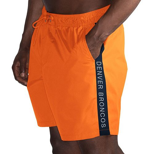Men's G-III Sports by Carl Banks Orange/Navy Denver Broncos Volley Swim Trunks