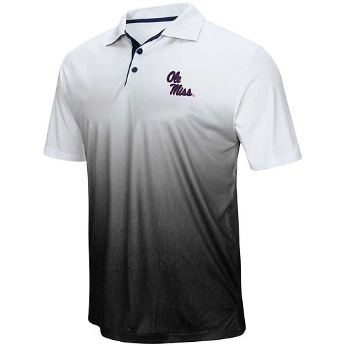 Men's Colosseum Gray Ole Miss Rebels Magic Team Logo Polo