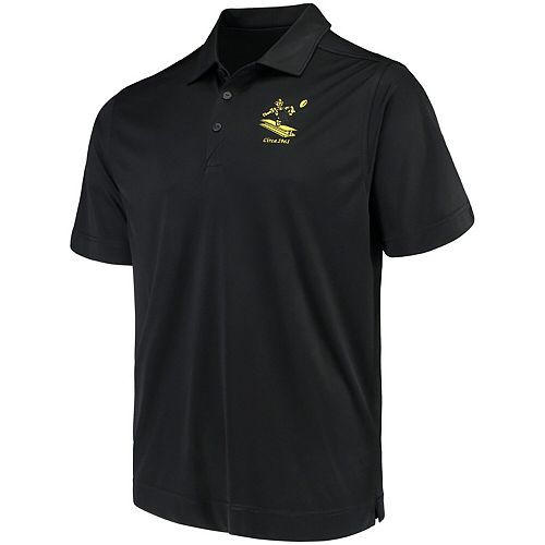 Men's Cutter & Buck Black Pittsburgh Steelers Vintage DryTec Northgate Polo