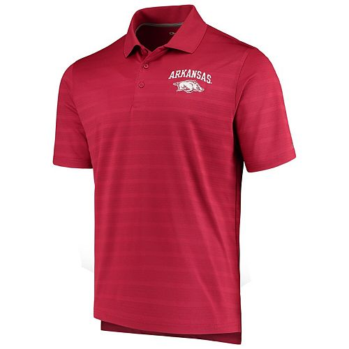 Men's Champion Cardinal Arkansas Razorbacks Textured Polo