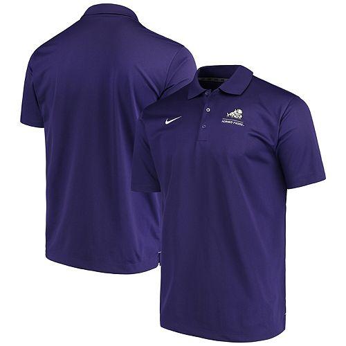 Men's Nike Purple TCU Horned Frogs Logo and Mascot Name Varsity Performance Polo