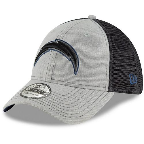 Men's New Era Gray/Graphite Los Angeles Chargers Two-Tone Sided 39THIRTY Flex Hat