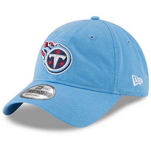 Women's New Era Light Blue Tennessee Titans Core Classic Secondary 9TWENTY Adjustable Hat