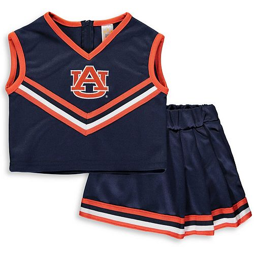 Girls Youth Navy Auburn Tigers Two-Piece Cheer Set