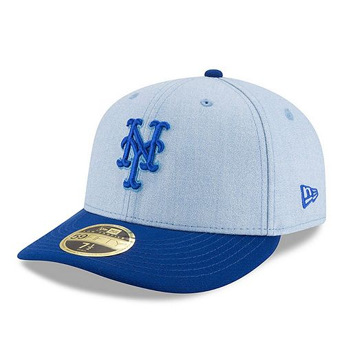 Men's New Era Light Blue New York Mets 2018 Father's Day On Field Low Profile 59FIFTY Fitted Hat