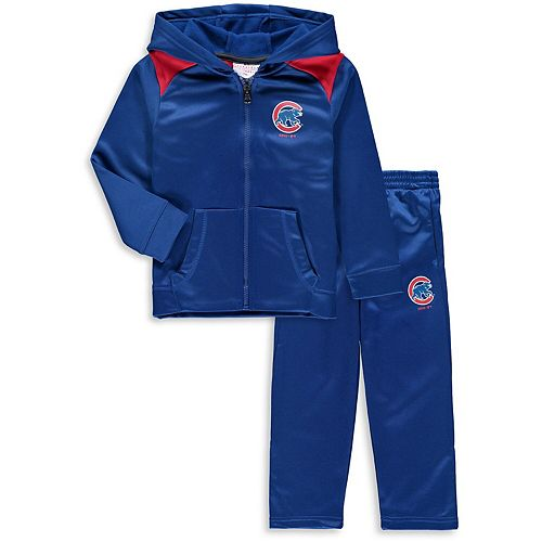 Toddler Majestic Royal Chicago Cubs Play Action Full-Zip Hoodie & Pants Set