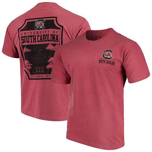 Men's Garnet South Carolina Gamecocks Comfort Colors Campus Icon T-Shirt