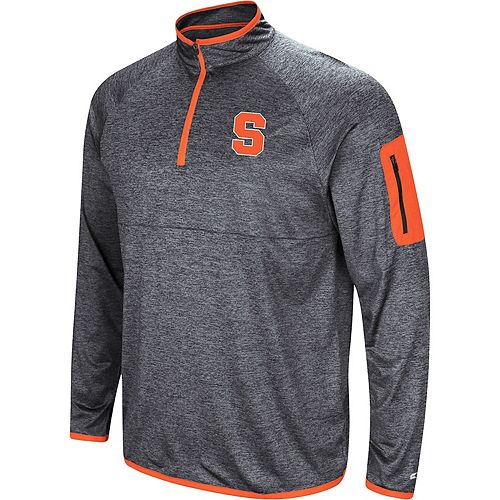 Men's Colosseum Navy Syracuse Orange Amnesia Quarter-Zip Pullover Jacket