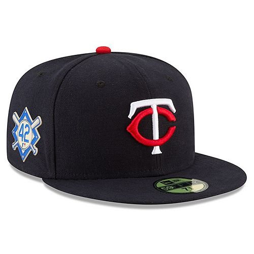 Men's New Era Navy Minnesota Twins Jackie Robinson Day 59FIFTY Fitted Hat
