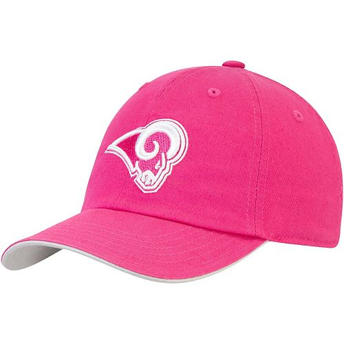 Girls Youth Pink Los Angeles Rams Team Slouch Adjustable Hat
