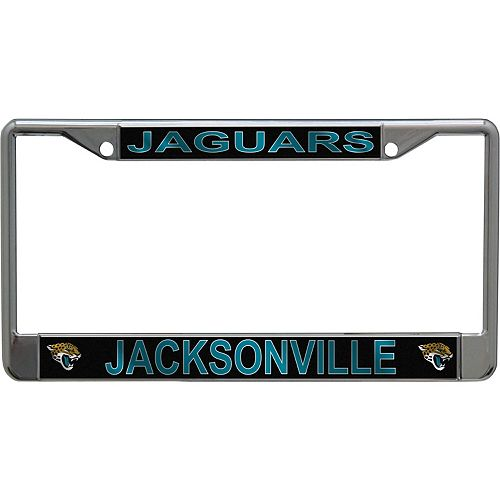 WinCraft Jacksonville Jaguars Metallic License Plate Frame With Team Logos